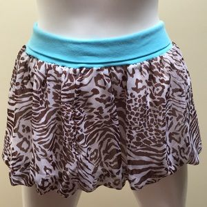 Kids Cheetah Print with Blue stretchy band skirt!